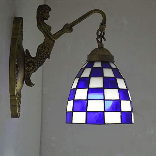 Zachte wandlamp schaduw wandlamp creatief design zeemeerminstaart milieuvriendelijke basis prachtige vloerlamp wandlamp van glas