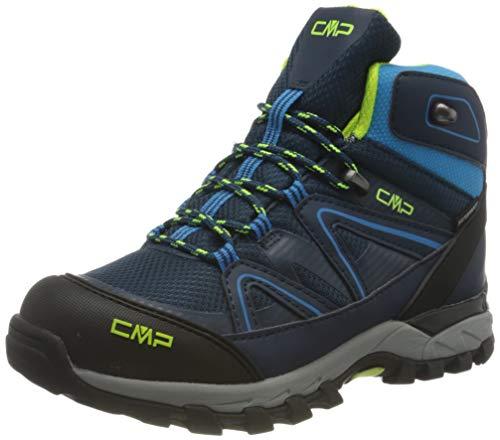 CMP Kids SHEDIR Mid Hiking Shoes WP, Chaussures de Marche, Blue Ink River, 34 EU
