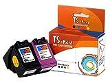 TS-Print Multi-Pack de 2 Cartuchos de Tinta compatibles para HP 650-XL (20ml XXL) Negro Black BK + HP-650 XL (18ml XXL) Tri-Colores Tri-Color