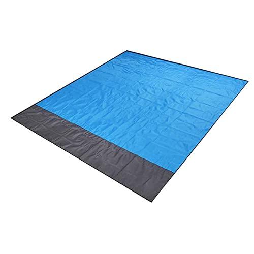 TAHUAON Coperta Da Spiaggia 210x200 cm Sand Free Mat Oversize Outdoor Picnic Pieghevole Per Famiglia Viaggi All'aperto Escursioni Blu