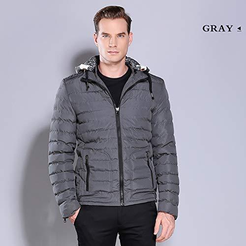YGCLOTHES Down Jacket Mens Outwear, met capuchon Rits Warm Lichtgewicht Winter Casual Parka Jassen, Ademend Waterdicht Winddicht Warm, voor Camping Reizen