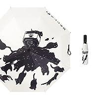 傘 傘の折りたたみ日焼け止めの抗紫外線サンシェード高密度黒いコーティングフルオートマチック (Color : Full-automatic)
