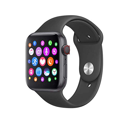 Fitness Tracker Smart Watch 1.54inch IPS 57600 Pixels Groot Scherm Slimme Horloge Volledige Aanraking Waterbestendig Fitness Tracker Armband Je Kunt Ook Siri Bellen (Color : Black)