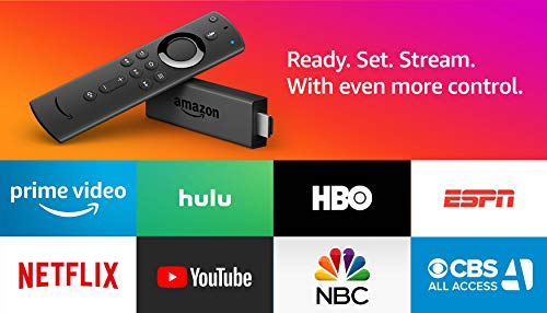 Certified Refurbished Fire TV Stick streaming media player with Alexa built in, includes Alexa Voice Remote, HD, easy set-up, released 2019
