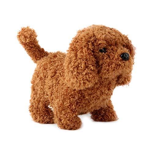 Tangshi Cachorro de pelúcia realista com som, brinquedo elétrico de pelúcia para passear com cachorro, brinquedo inteligente de robô animal para crianças