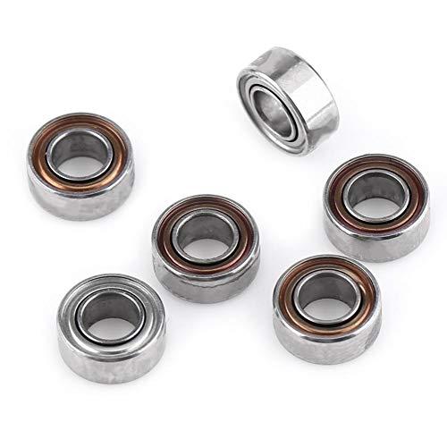 10 Stück MR63ZZ Miniatur-Kugellager, Double Shielded / Sealed, 3x6x2.5mm Metall Geschirmt Kugellager für 3D-Drucker, Modellbau