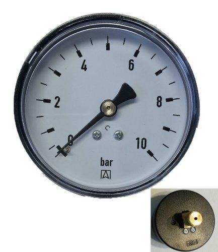 Afriso Manometer mit Anschluß 1/4 Zoll Gewinde hinten, 1 Stück, 600450