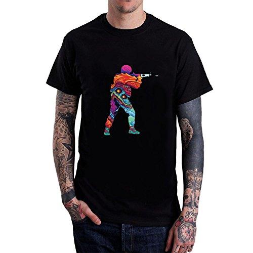 Men's CSGO O-Neck T Shirt S Black hot Short Sleeves