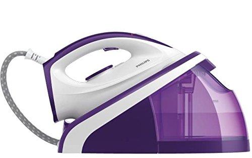 Philips Plancha con generador de Vapor HI5914/30, 2400 W, 1.1 litros, Púrpura/Blanco