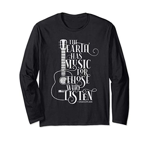 Vintage Guitar, acoustic, strings instrument, Musical gift Langarmshirt