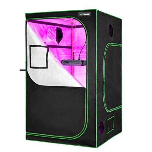 VIVOSUN 48' X48' X 80' Hydroponic Grow Tent + 600W LED Grow Light for Indoor Plants Veg and Flower