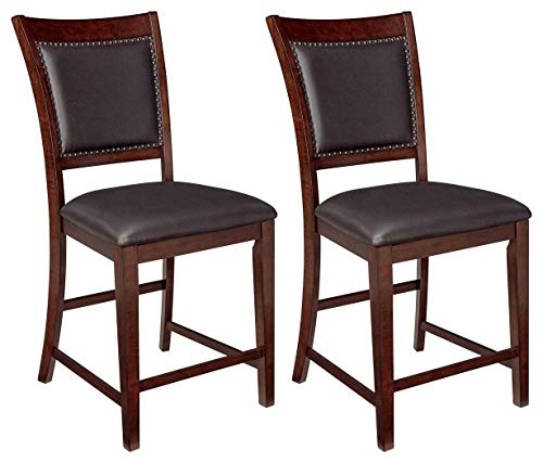 Signature Design By Ashley - Collenburg Bar Stools - Set of 2 - Counter Height - Dark Brown