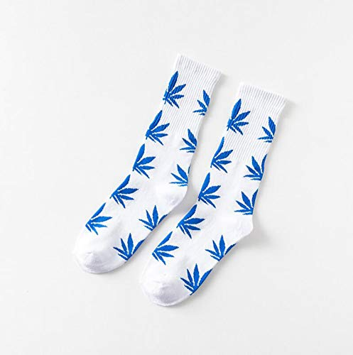 DIVISTAR Weed Maple Leaf Atmungsaktive Baumwolle Skateboard-Socken Paar Socken Strumpf 1 Paar