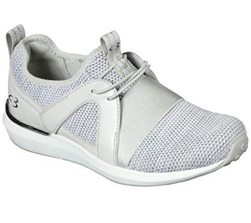 Concept 3 by Skechers Women's Made Pretty Mesh Slip-On Sneaker, Light Grey, 8.5 Medium US