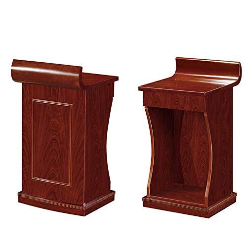 BTTNW Atriles y podios Muebles de Oficina de Madera sólida de Chapa Pintura Podium Podium información turística Panel Frontal Atril (Color : Red, Size : One Size)