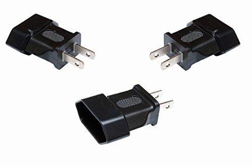 Set 3x adaptador de viaje para Europa de conector en Estados Unidos de caja tipo A