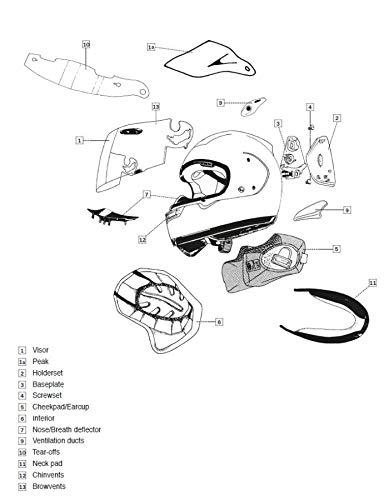 Motodak - Casco Integrale Chaser-X ARAI, 5 mm