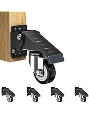 GBL® 4 x Zwenkwielen 50mm met Schroeven - Zwenkwielen Zwaar Rubberen Zwenkwielen voor Meubels - Wielen Karretje - Transport Karretje