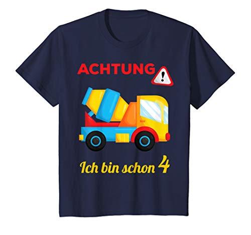 Kinder Geschenk 4 jähriger Junge 4 Jahre Baustelle 4. Geburtstag T-Shirt