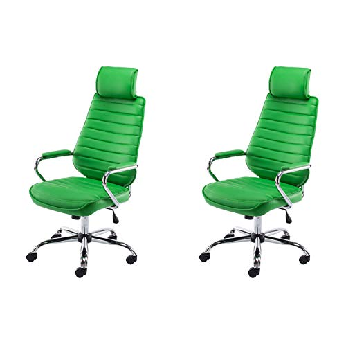 Lüllmann Rako V2 - Silla giratoria de oficina (2 unidades), color verde