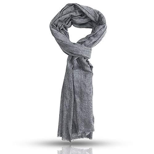 Sciarpa Extra Morbida - Colore Naturale - Alta Qualità 100% Cashmere (Pashmina) - Autentica (Made in India) - Regalo Ideale