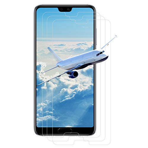 【3 Pièces】Verre Trempé pour Huawei P20 Pro, [2.5D] film trempé , 9H dureté, anti-bulles, HD Transparent, anti-empreintes digitales, Film en verre trempé pour P20 Pro -Transparent