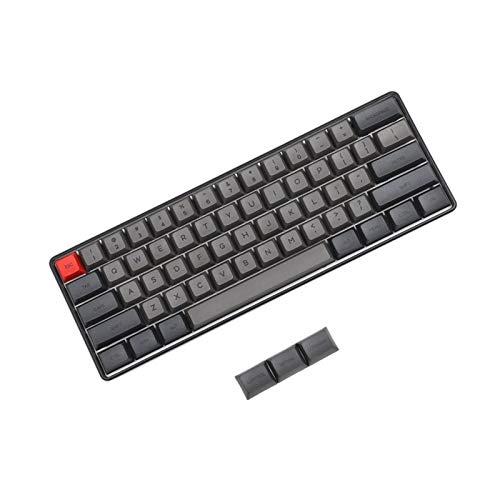 Ys-s Personalización de la Tienda SK61 Type-C Gateron Optic Interruptores Dye Sub KeyCaps RGB Retroiluminación Teclado técnico (Axis Body : Optical Blue, Color : Black)