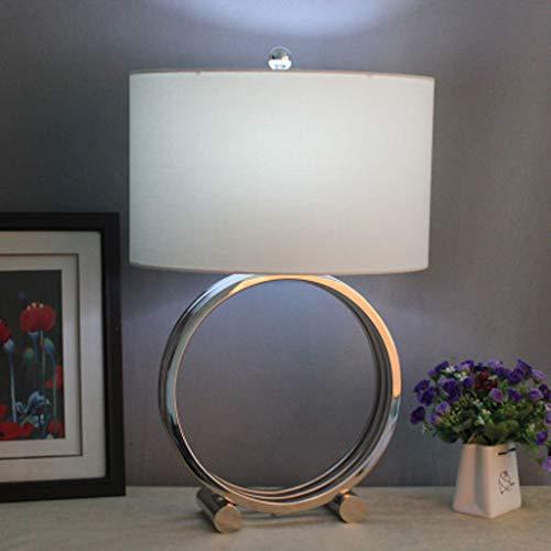Moderne tafellamp lampenkap lamplichaam van zilver van hoge kwaliteit, leeslamp van roestvrij staal