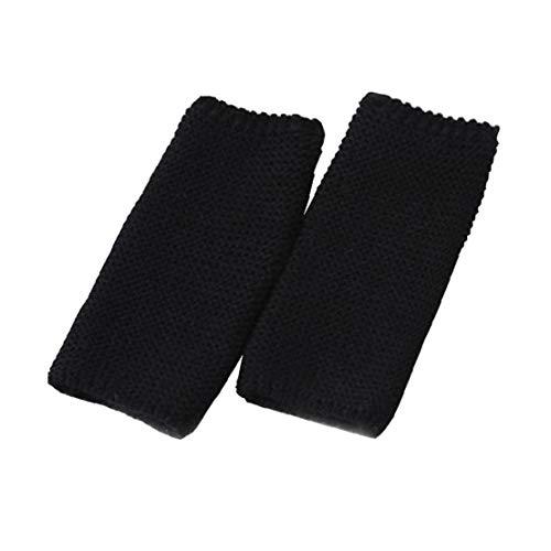 Frauen Tanzen Stepping Fuß Knit Sportschutz Socken Häkeln Stiefelsocken Für Tanz Yoga - Schwarz 1 Paar