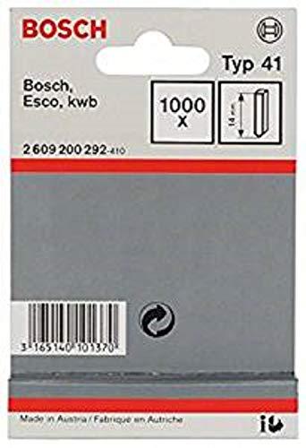 Bosch 2609200292 - Set di graffette per graffatrice, 14 mm, 1000 pz, Tipo 41