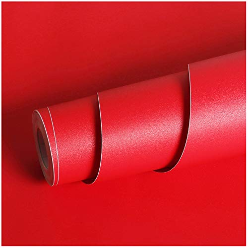 Livelynine Red Contact Paper Peel and Stick Roll Self...