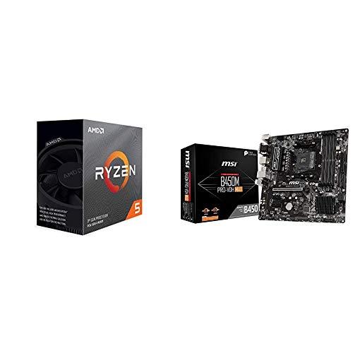 AMD Ryzen 5 3600 4 2GHz AM4 35MB Cache Wraith Stealth MSI B450M PRO VDH MAX AMD AM4 DDR4 m2 USB 32 Gen 2 HDMI Micro ATX Motherboard