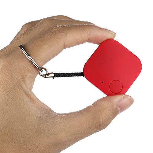 Dapei Auto Motor GPS Tracker mit Schlüsselband Kinder Haustiere Brieftasche Schlüssel Alarm Mini Locator Echtzeit Finder Gerät Bluetooth Smart Anti Lost Gerät (Rot)