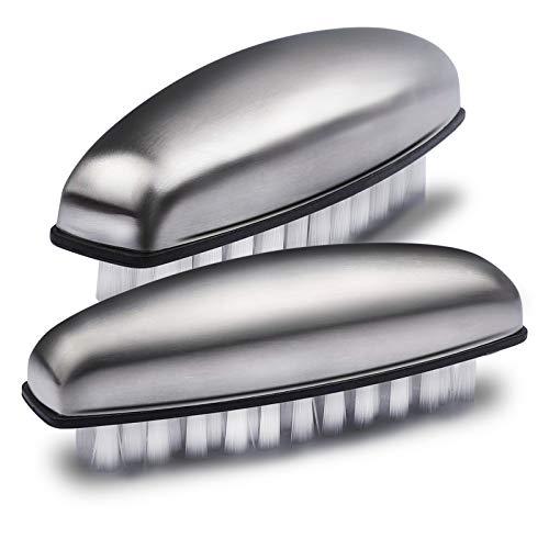 Ucec - 2 spazzole per il lavaggio delle mani, in acciaio inox, per la pulizia di mani, unghie, bagno e cucina