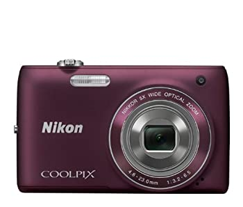 Nikon COOLPIX S4100 14 MP Digital Camera with 5x NIKKOR Wide-Angle Optical Zoom Lens and 3-Inch Touch-Panel LCD  Plum