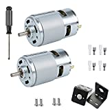 775 DC Motor, 12V-24V 3500-9000 RPM Mini Electric Motor, Double Ball Bearing Large Torque High Power Motor for DIY Parts