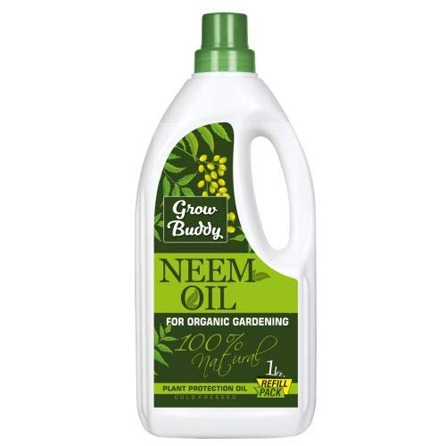 Growbuddy Neem Oil for Plant and Organic Farming Helpful for Plant Growth,1 Litre