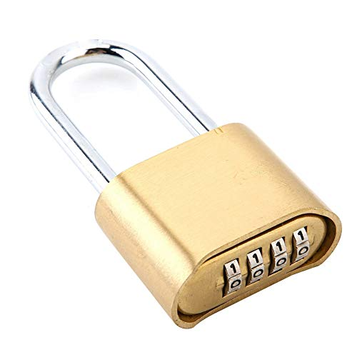 Messing Passwort Vorhängeschloss Tragbares Passwort Schloss, für den Außenbereich