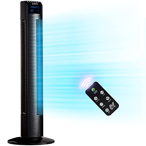 """NETTA Tower Fan, 36"""" Oscillating with Remote Control, LED Display, 3 Speed..."""