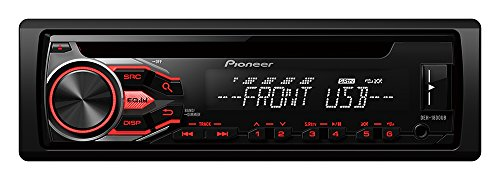 Pioneer DEH-1800UB - Autorradio, blanco y rojo