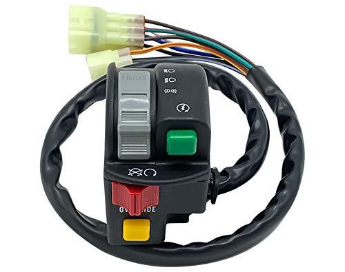 M MATI Left Handlebar Control Start Stop Headlight Switch for Arctic Cat ATV 350 CR 366 400 425 450 XC450 Alterra 500 3313-428