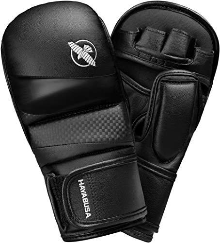Hayabusa T3 Hybrid-Boxhandschuhe für Kickboxen und MMA, 200 g, Herren, schwarz, Large