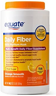 Equate Fiber Therapy Powder Supplement Value Size, 114 Ct, 48.2 Oz