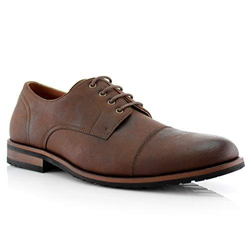 Ferro Aldo Spencer MFA19553L Mens Casual Cap Toe Oxford Dress Shoes brown...