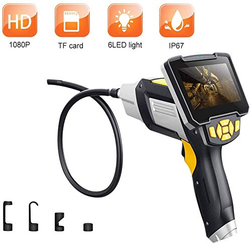Brennweite 197-inch Industrie Endoskop, 1080P HD Endoskop Kamera, 4,3-zoll Farbe LCD Bildschirm, Handheld Endoskop, IP67 Wasserdichte Inspektion Kamera