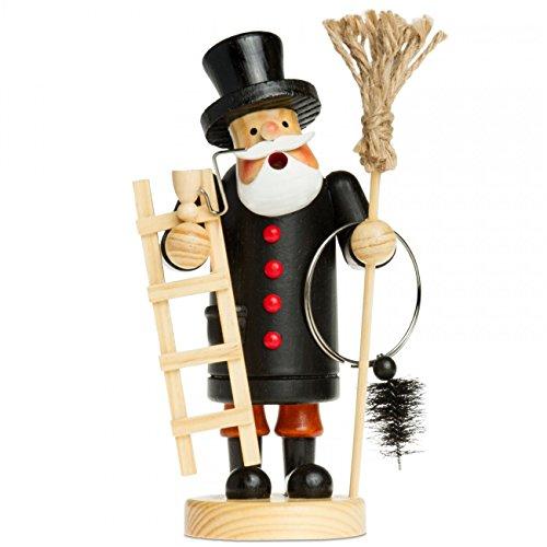 Sikora RM-A Räuchermännchen aus Holz 3 Größen Verschiedene Motive, Farbe/Modell:A08 schwarz - Schornsteinfeger, Größe:Höhe ca. 19.5 cm