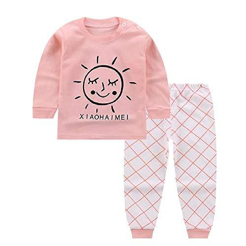Pijamas de 2 Piezas para niñas, bebés, Mangas largas, Juegos de niños, Traje de Dormir