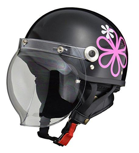 LEAD, Jet CROSS Bike Helmet, CR - 760, Bubble Shield, Half Helmet, Free Size 22.4 – 23.6 inches (57 – 60 cm), model: CR-760