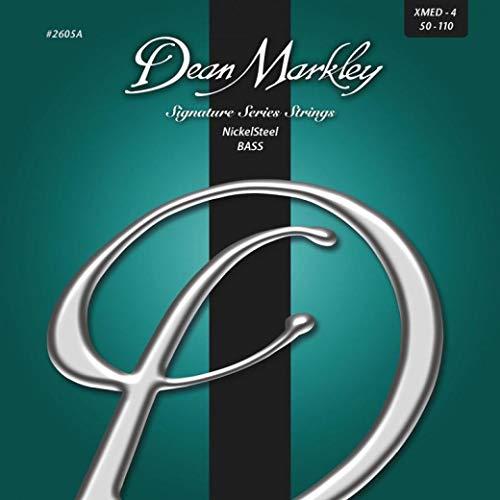 Dean Markley Cuerdas de bajo de acero níquel extra medianas de 4 cuerdas 50-110