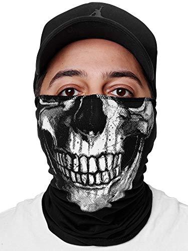 Code47 - Pañuelo para el cuello con estampado para moteros, esquí, moto, máscara facial